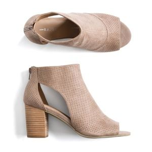 Report taupe ankle bootie
